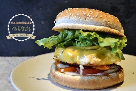 Recette d'hamburger plancha à la dinde ou au poulet cuit intégralement à la plancha