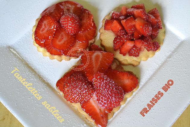 Recette sucrée tartelettes sablées aux fraises