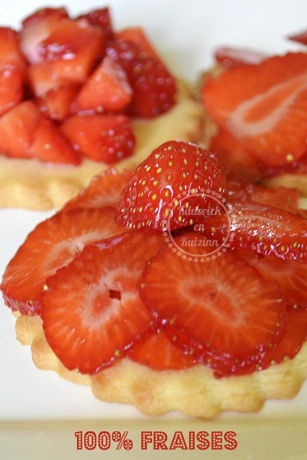 Tartelettes sablées aux fraises bio