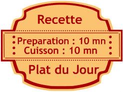 Badge recette du plat du jour - Recette de cuisine - Blog de cuisine de Kaderick en Kuizinn