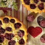 Clafoutis aux framboises bio et amandes - Recette de cuisine pour un dessert d'été