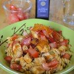Recette pâtes à la dinde, sauce au paprika, poivron et tomates bio