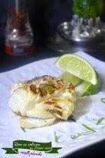 Cuisine plancha - Dos de cabillaud mariné au citron vert pour une recette plancha
