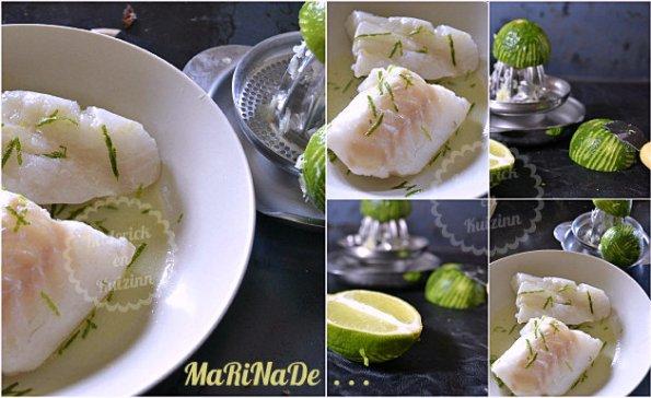 Marinade au citron vert dos de cabillaud cuit à la plancha à gaz pour une cuisson maîtrisé