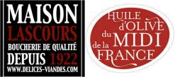 Logo viande maison Lascours huile olive midi france