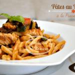 Recette pâtes au poulet et sauce provençale au basilic frais