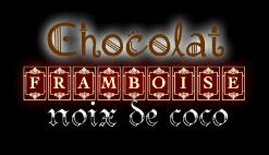 logo moelleux au chocolat, framboise et noix de coco