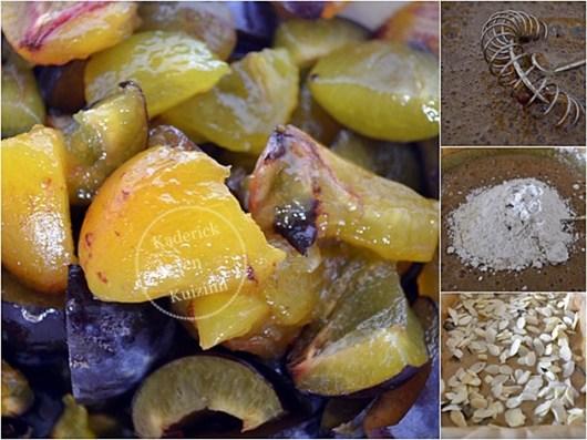 Ingrédients moelleux prunes amandes et sucre rapadura complet