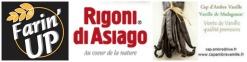 Logo partenariat farin up rigoni di asiago cap ambre vanille