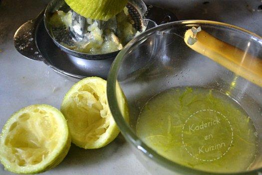 Préparation de la crème au citron vert et mascarpone pou tagliatelles