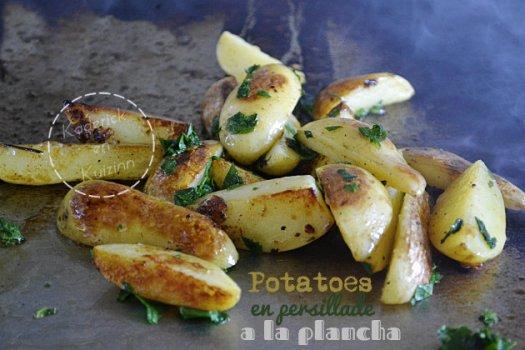 Recette des potatoes en persillade cuitent à la plancha