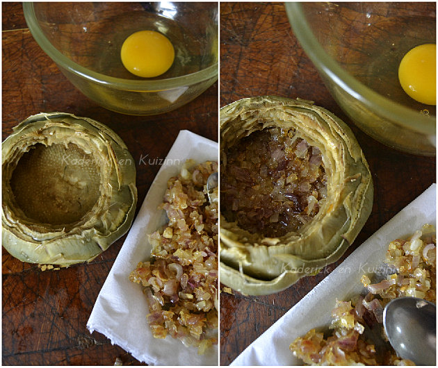 Remplissage fond d'artichaut aux échalotes ciselées de Prince de Bretagne