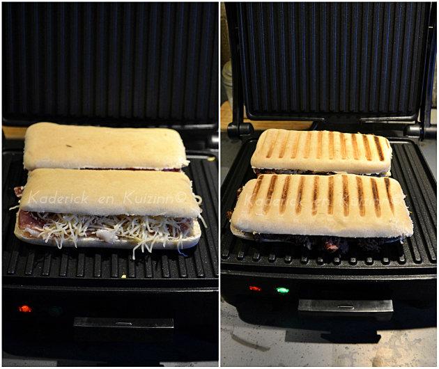 Cuisson du panini sur le grill 3 en 1 de Russel Hoobs