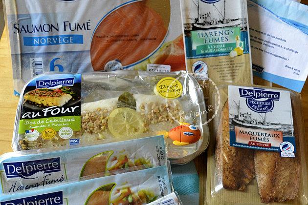 partenariat Delpierre une box de la mer avec saumon, maquereaux