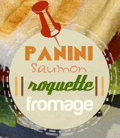 Logo recette panini saumon fume roquette fromage