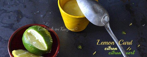 Préparation lemon curd au citron et citron vert pour Culino Versions