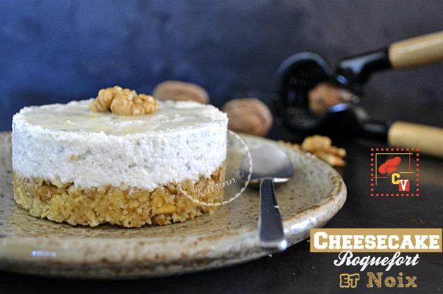 Recette cheesecake au roquefort, noix et logo de Culino Versions