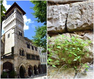 Village médiéval de saint antonin de noble val avec le restaurant