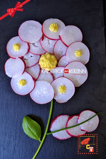 Dégustation fleur de radis du bouquet qui se mange pour Culino Versions - légumes bio
