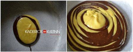Préparation recette madeleines tigrées vanille, chocolat et fève tonka