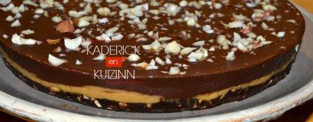 Présentation du gâteau de fêtes avec un opéra au chocolat - recette opera
