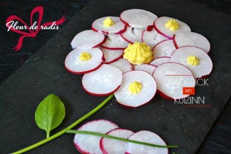 Recette bio fleur de radis et mayonnaise pour Culino Versions - légumes bio