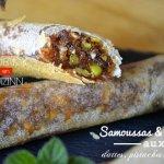 Recette samoussas et roulés de dattes, pistaches, amandes et miel