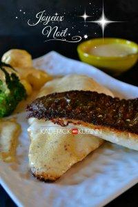 Filets de turbot cuit à la plancha pour un repas exceptionnel de noël - recette de poisson