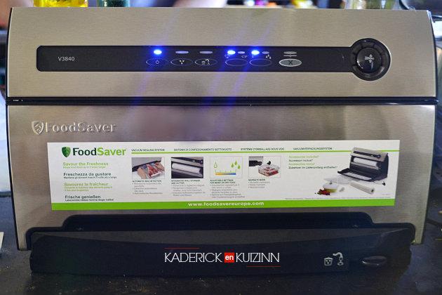 Foodsaver appareil a mettre sous vide sur le blog cuisine Kaderick en Kuizinn - partenariat