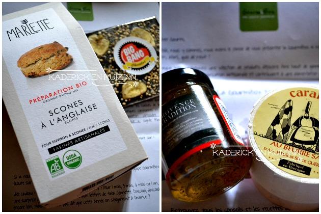 Partenariat Gourmibox avec scones à l'anglaise, caramel et chocolat