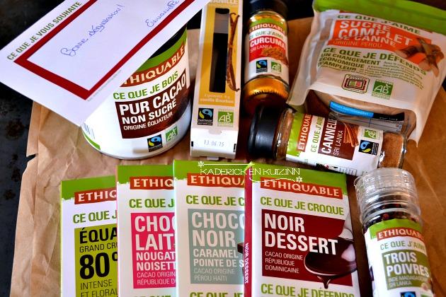 Produits bio offert par Ethiquable issue du commerce équitable - partenariat