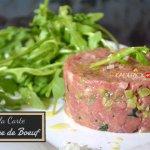 Recette du tartare de bœuf maison découpé au hachoir à main - recette de fêtes