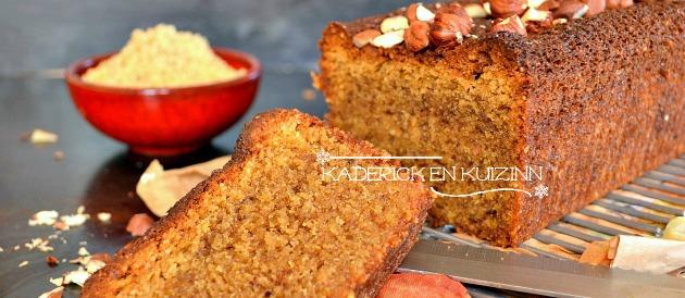 Cake aux noisettes torréfiées bio pour un goûter sain
