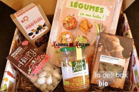 Deli Box Bio avec des produits bio offerts en partenariat avec mon blog - recette de cuisine