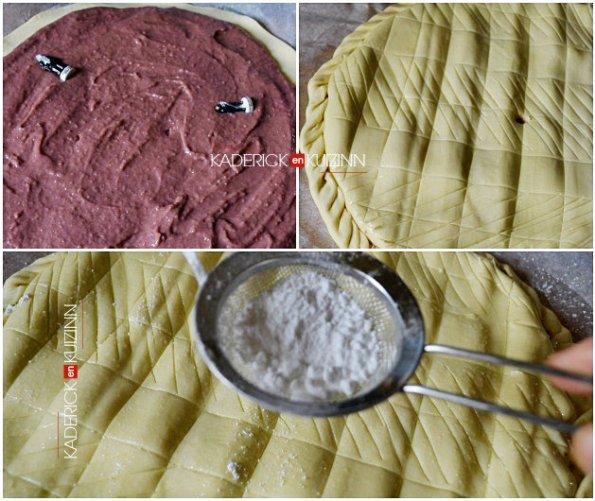 Montage de la galette des rois crème frangipane aux fruits rouges - recette de frangipane