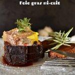 Présentation médaillon au magret de canard rôti et foie gras mi-cuit - recette de fêtes