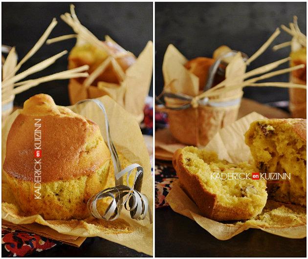 Présentation muffins à la citrouille dans les moules papier Gault & Frémont - recette de goûter