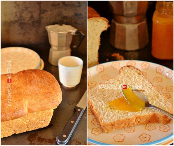 Présentation recette pain mie fait maison - recette à la machine à pain