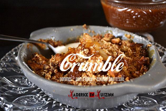 Recette crumble de pommes au pain d'épice comfort food pour Culino Versions - recette comfort food