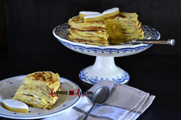 chandeleur - Recette gateau crepes creme calisson maison
