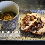 Recette rôti de poulet farci au foie gras cuit sous vide au Foodsaver - recette à la vapeur
