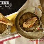 Recette soupe à l'oignon, croûtons de pain parsemé d'Ossau-Iraty A.O.C - recette de saison
