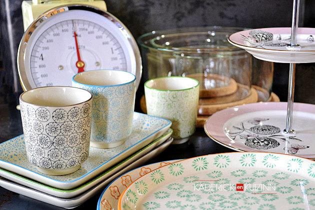 Zalando m'a offert en partenariat des assiettes, bols, balance et plat à étage - Recette de cuisine