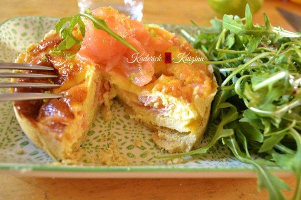 Recette facile de la quiche saumon fumé avec une pâte brisée maison - recette de tarte