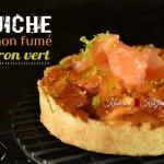 Recette facile des minis quiches au saumon fumé et zestes citron vert - recette de tarte