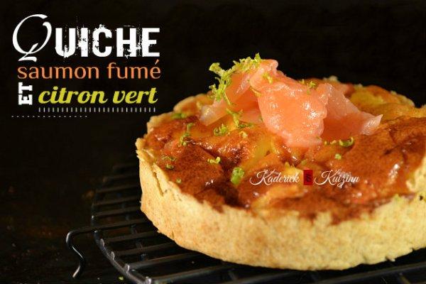 Recette facile des minis quiche saumon fumé et zestes citron vert - recette de tarte