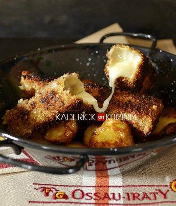 Recette partenariat avec ces triangles panés de fromage Ossau-Iraty - recette fromage