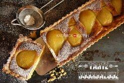 Recette de la tarte bourdaloue aux poires et crème d'amande - recette du Chef Simon