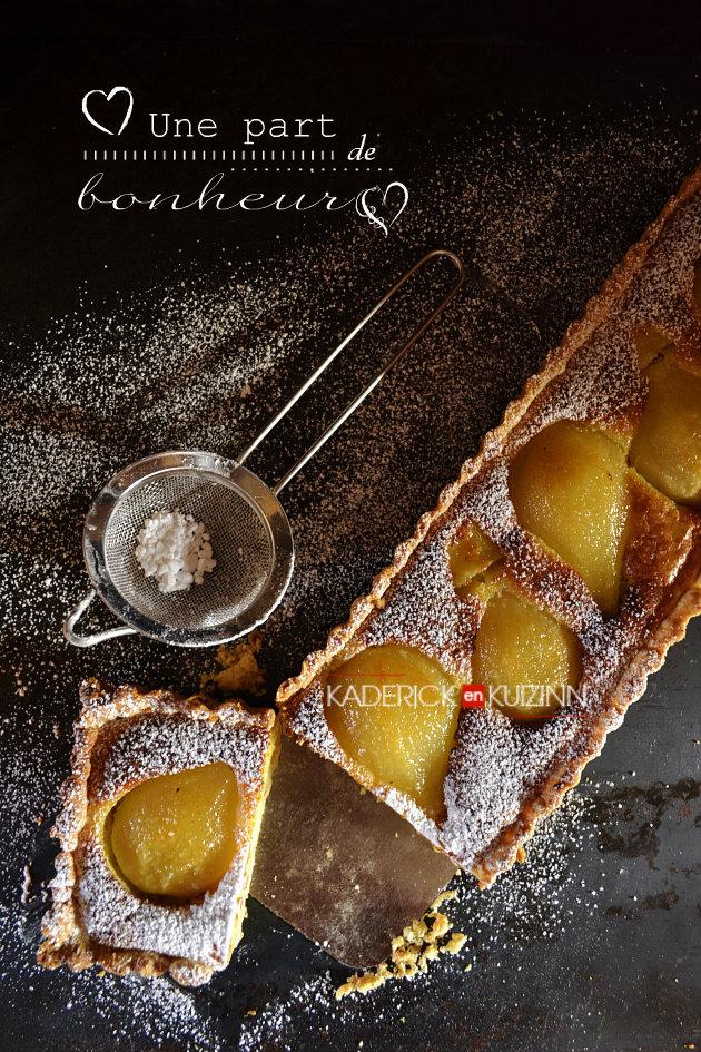 recette St valentin - une part de bonheur avec la tarte bourdaloue aux poires