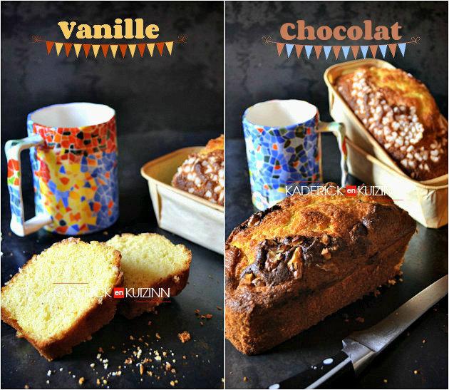 Gateau vanille chocolat yaourt